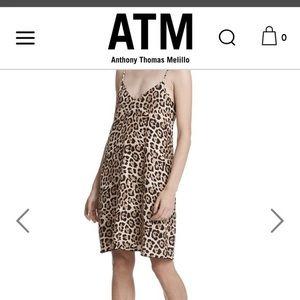 ATM leopard print silk dress